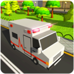 Blocky US Fire Truck & Army Ambulance Rescue Game 1.0.6  (Mod Unlimited Money)