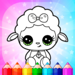 Flower Magic Color-kids coloring book with animals 3.8 (Mod Unlimited Money)