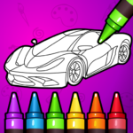 🚗 Learn Coloring & Drawing Car Games for Kids  🎨 7.0 (Mod Unlimited Money)