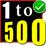 1 to 500 number counting game 5 (Mod Unlimited Money)