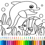 Dolphin and fish coloring book 15.3.8 (Mod Unlimited Money)