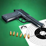 Pistol shooting at the target.  Weapon simulator 4.5 (Mod Unlimited Money)