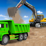 Sand Excavator Truck Driving Rescue Simulator game 5.8.2 (Mod Unlimited Money)