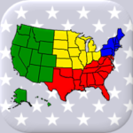 50 US States Map, Capitals & Flags – American Quiz 3.3.0 (Mod Unlimited Money)