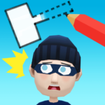 Draw & Hit: Kick the Robber! 0.1.7 (Mod Unlimited Money)