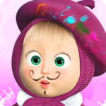 Masha and the Bear: Free Coloring Pages for Kids 1.7.6  (Mod Unlimited Money)