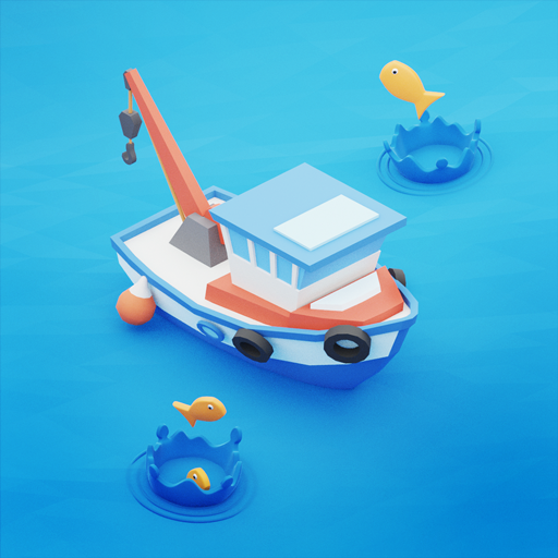 Fish idle: hooked tycoon. Fishing boat, hooking  (Mod Unlimited Money) 4.0.17