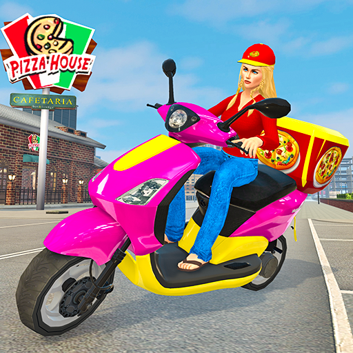 Moto Bike Pizza Delivery – Girl Food Game  (Mod Unlimited Money) 1.0