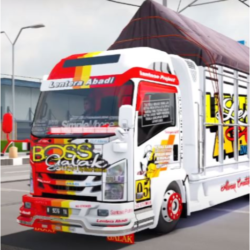 Truck Simulator Indonesia : Livery Bussid  (Mod Unlimited Money) 4.0
