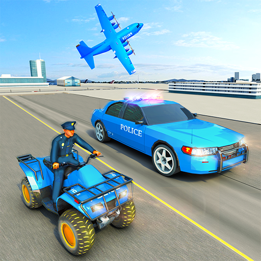 USA Police Car Transporter Games: Airplane Games  (Mod Unlimited Money)