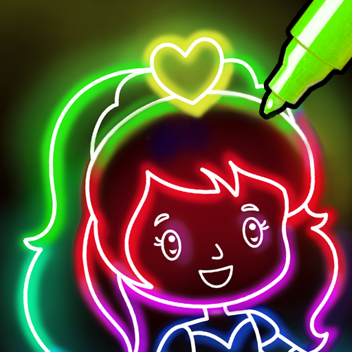 Doodle Glow Coloring & Drawing Games for Kids 🌟🎨  (Mod Unlimited Money) 1.1.7