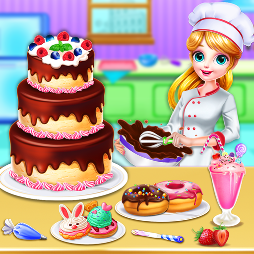 Sweet Bakery Chef Mania- Cake Games For Girls 4.6 (Mod Unlimited Money)