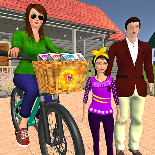 Working Mom Newspaper Girl Family Games 1.23  (Mod Unlimited Money)
