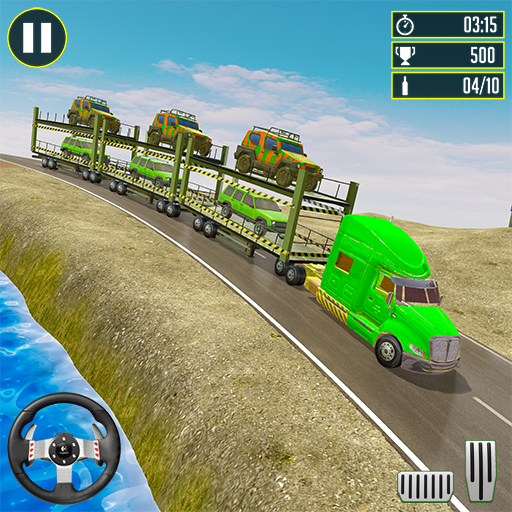 Off-Road Army Vehicle Transporter Truck 1.8 (Mod)