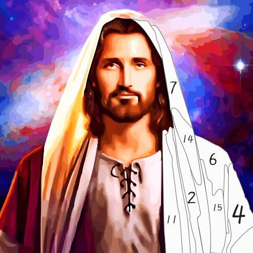 Jesus Coloring Book, Color by Number Paint Games  2.5 (Mod Unlimited Life Time)