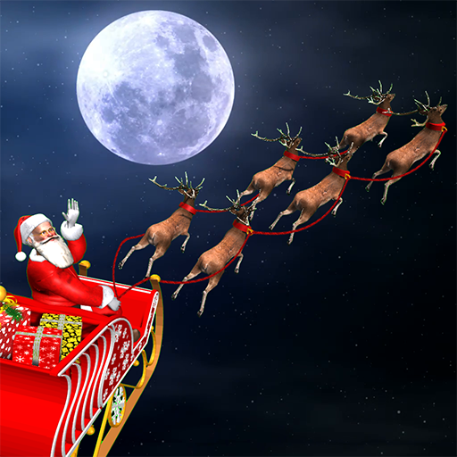 Christmas Flying Santa Gift Delivery 1.9 (Mod Unlimited Reindeers)