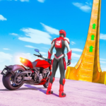 New Crazy Rope Spider Girl Bike Stunts Master 2021 2.0.3  (Mod Unlimited Coins)